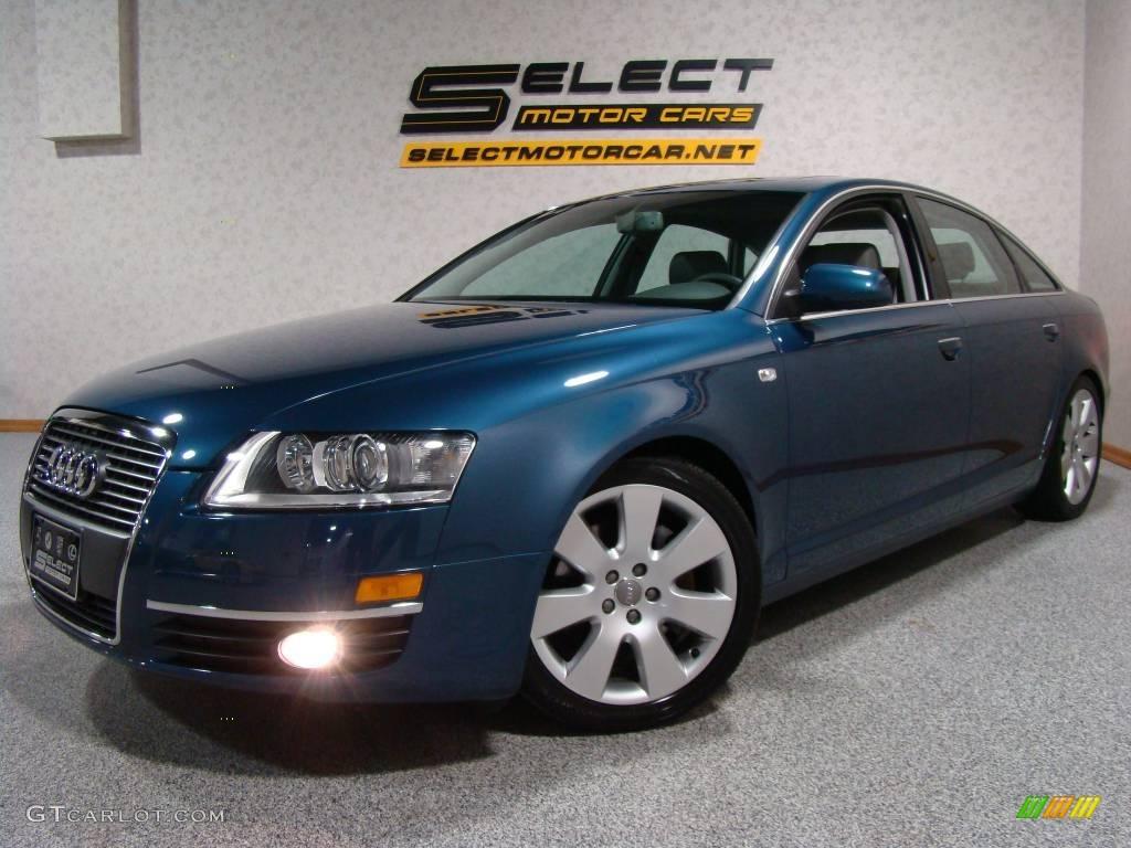 2005 stratos blue pearl effect audi a6 3.2 quattro sedan #2349161
