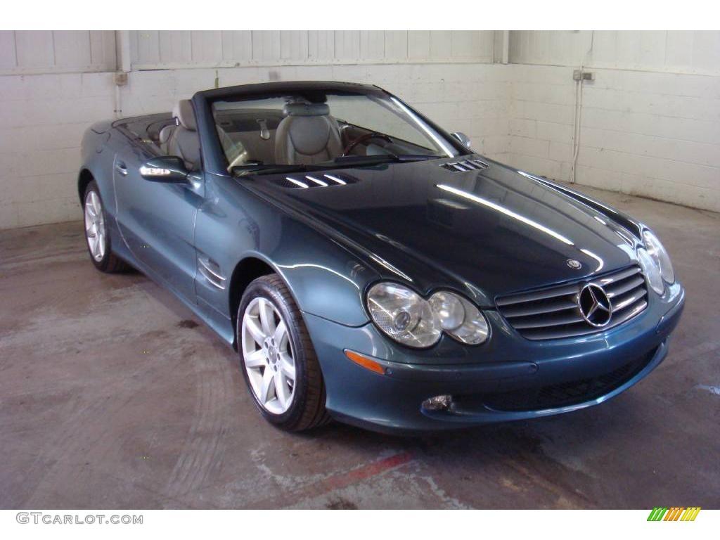 2003 aegean blue metallic mercedes benz sl 500 roadster for Mercedes benz sl 500 2003