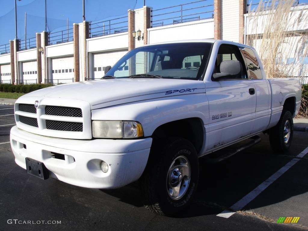 1999 bright white dodge ram 1500 sport extended cab 4x4 23573865 car color. Black Bedroom Furniture Sets. Home Design Ideas