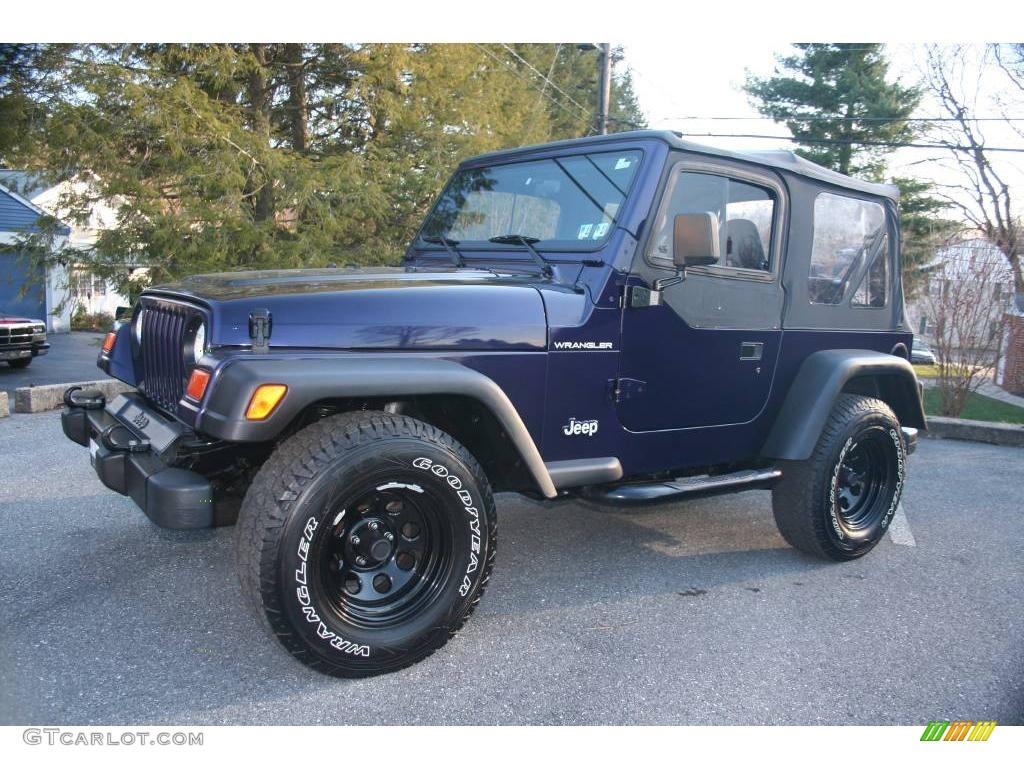 1999 Deep Amethyst Pearlcoat Jeep Wrangler SE 4x4 #23571699 Photo ...