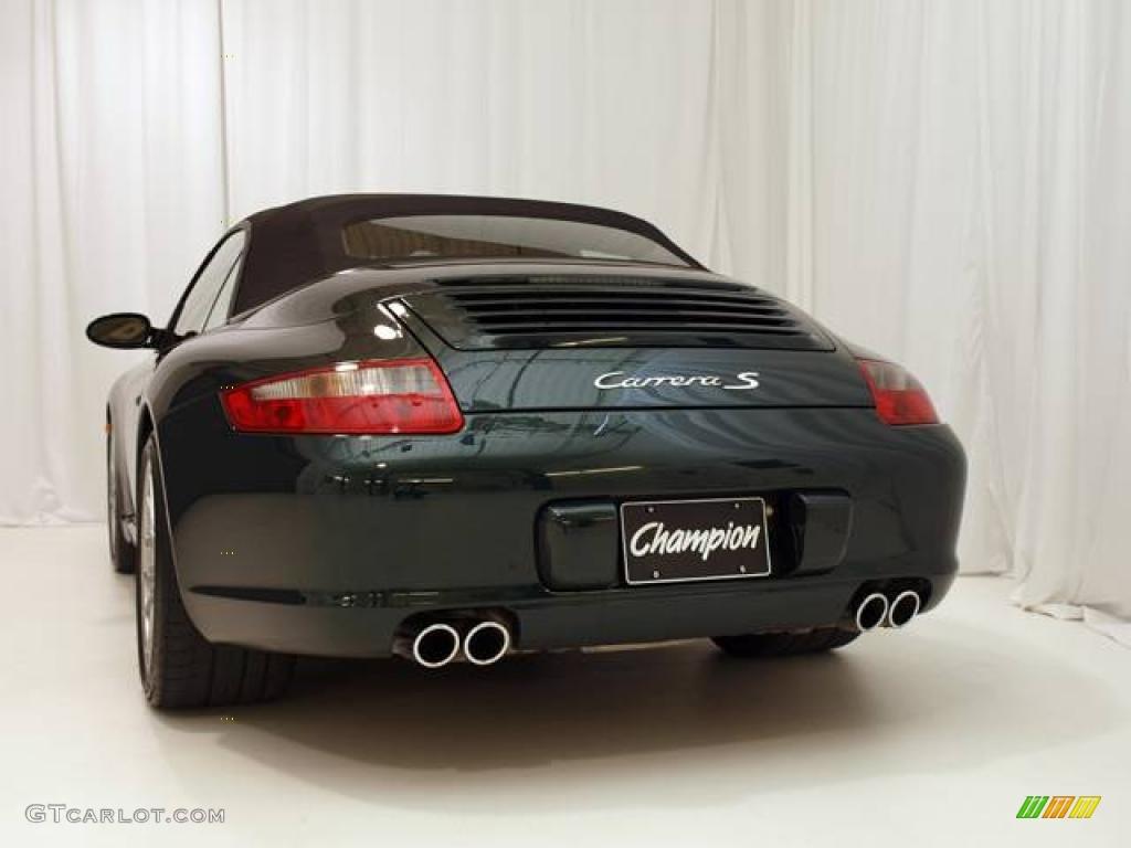 6dbb71221901 2006 911 Carrera S Cabriolet - Forest Green Metallic   Sand Beige photo  27