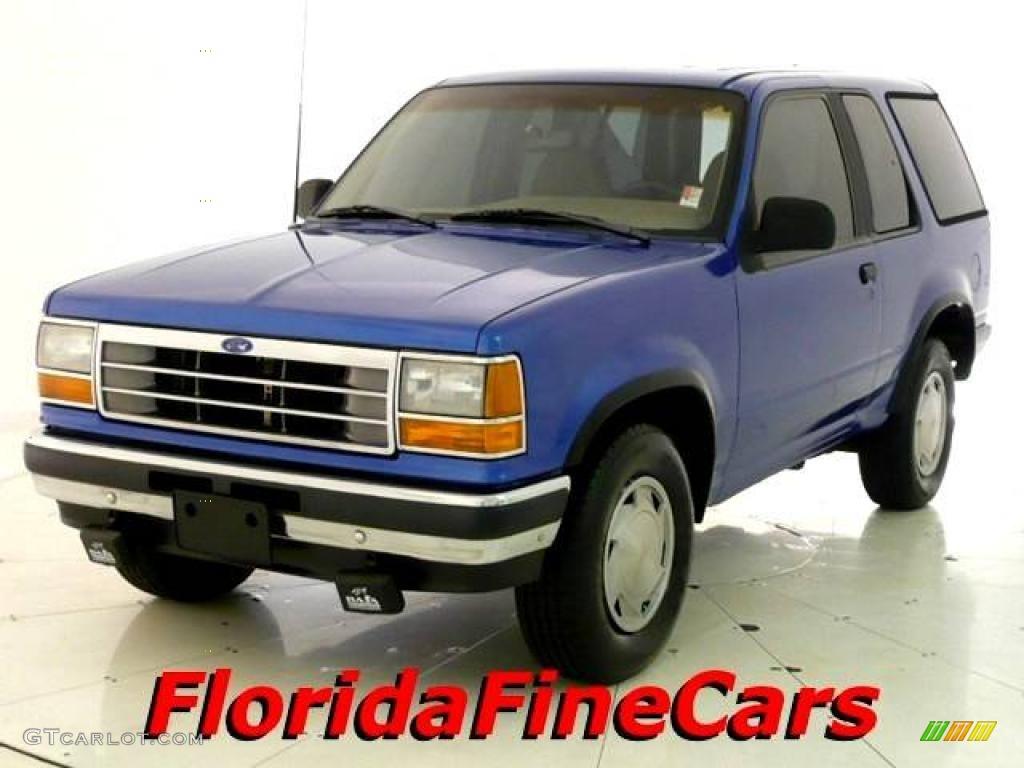 Medium lapis blue metallic ford explorer