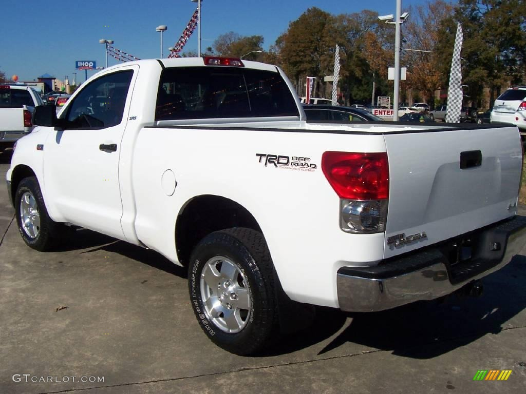 2007 super white toyota tundra trd regular cab 4x4. Black Bedroom Furniture Sets. Home Design Ideas