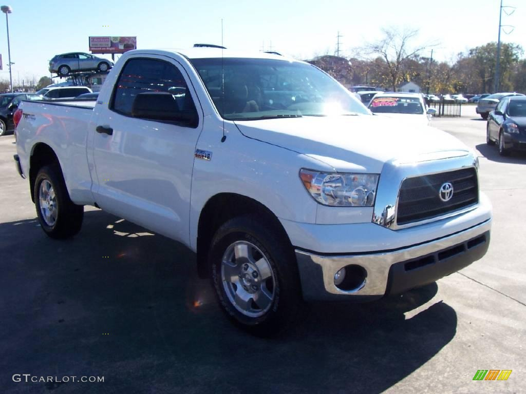 2007 super white toyota tundra trd regular cab 4x4 23657420 photo 7 car color. Black Bedroom Furniture Sets. Home Design Ideas