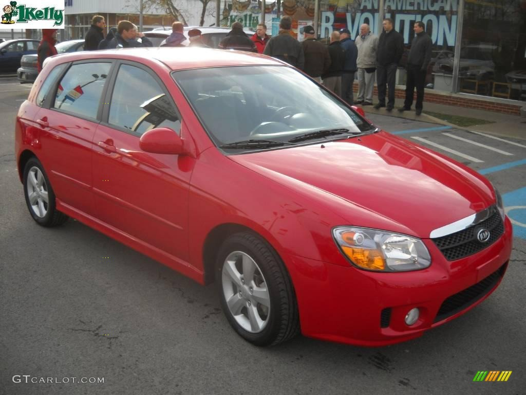2007 spectra spectra5 sx wagon radiant red black photo 1