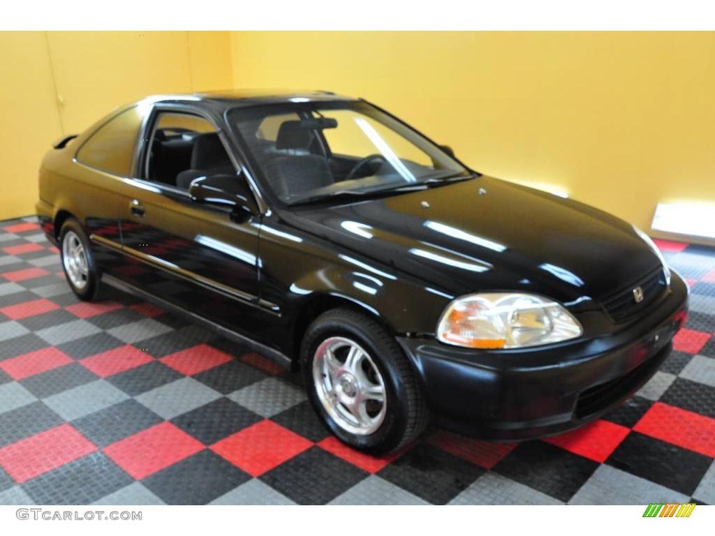 1996 granada black pearl metallic honda civic ex coupe 23655972 car color. Black Bedroom Furniture Sets. Home Design Ideas