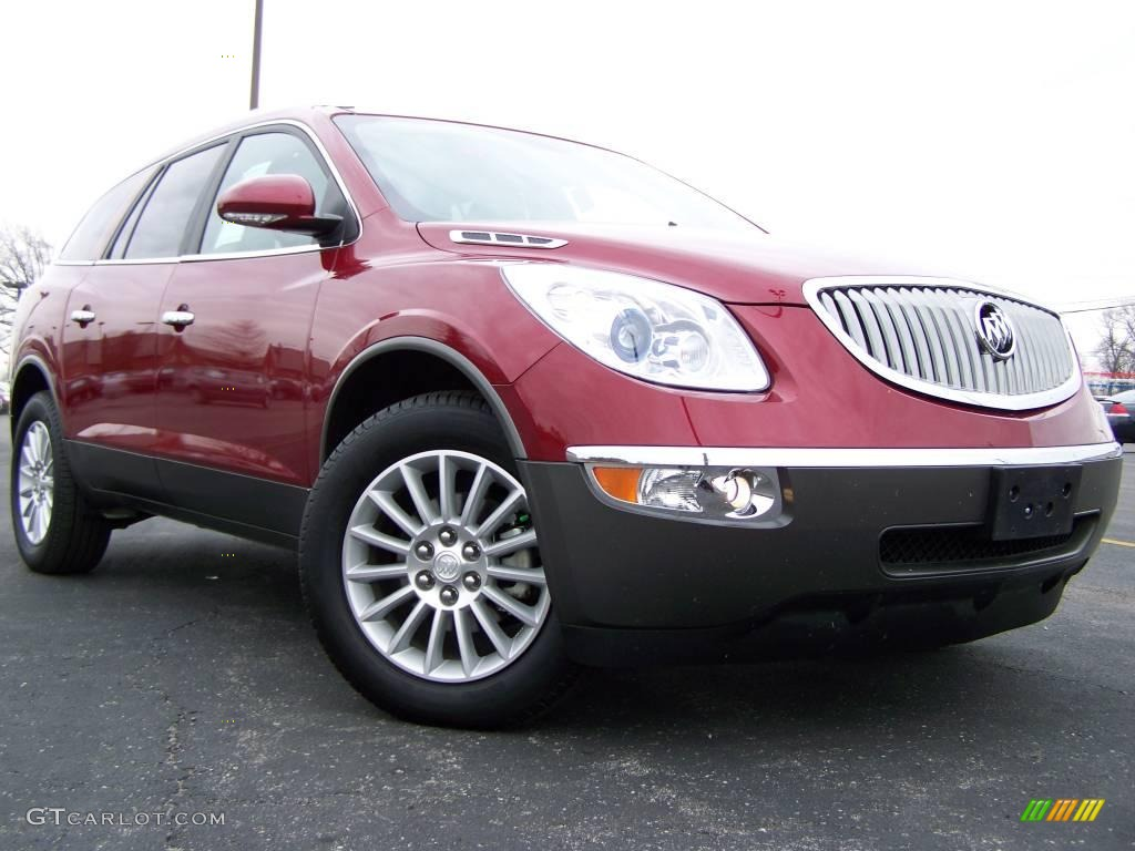 2009 Enclave CXL AWD - Red Jewel Tintcoat / Dark Titanium/Titanium photo #1
