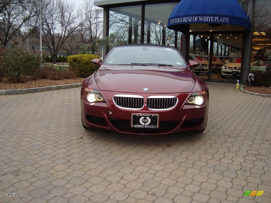 2007 BMW M6 Convertible Indianapolis Red Metallic Color / Black