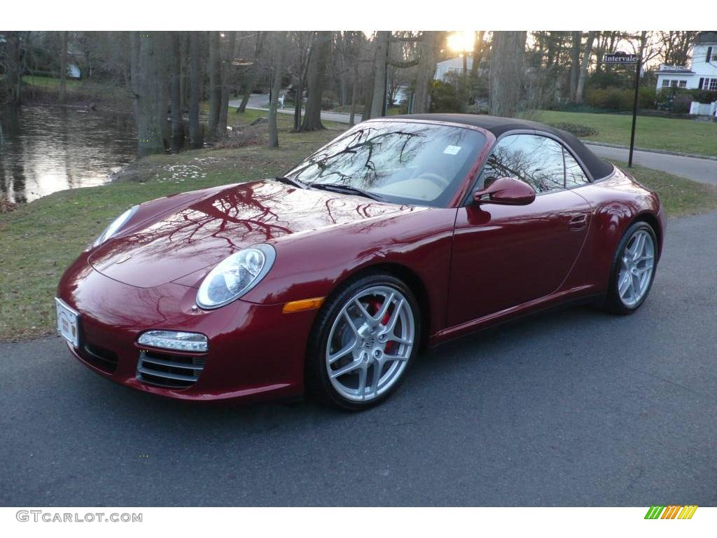 2009 ruby red metallic porsche 911 carrera 4s cabriolet 23713958 gtcarlot com car color