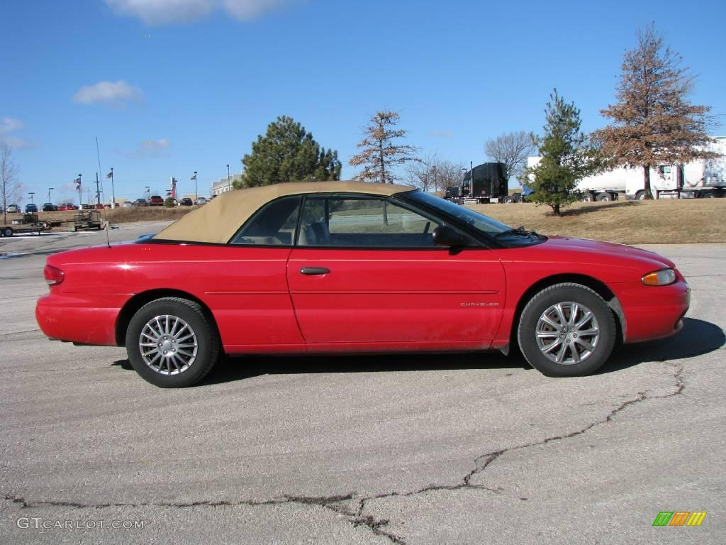 1998 Flame Red Chrysler Sebring Jx Convertible 2369618 Gtcarlot