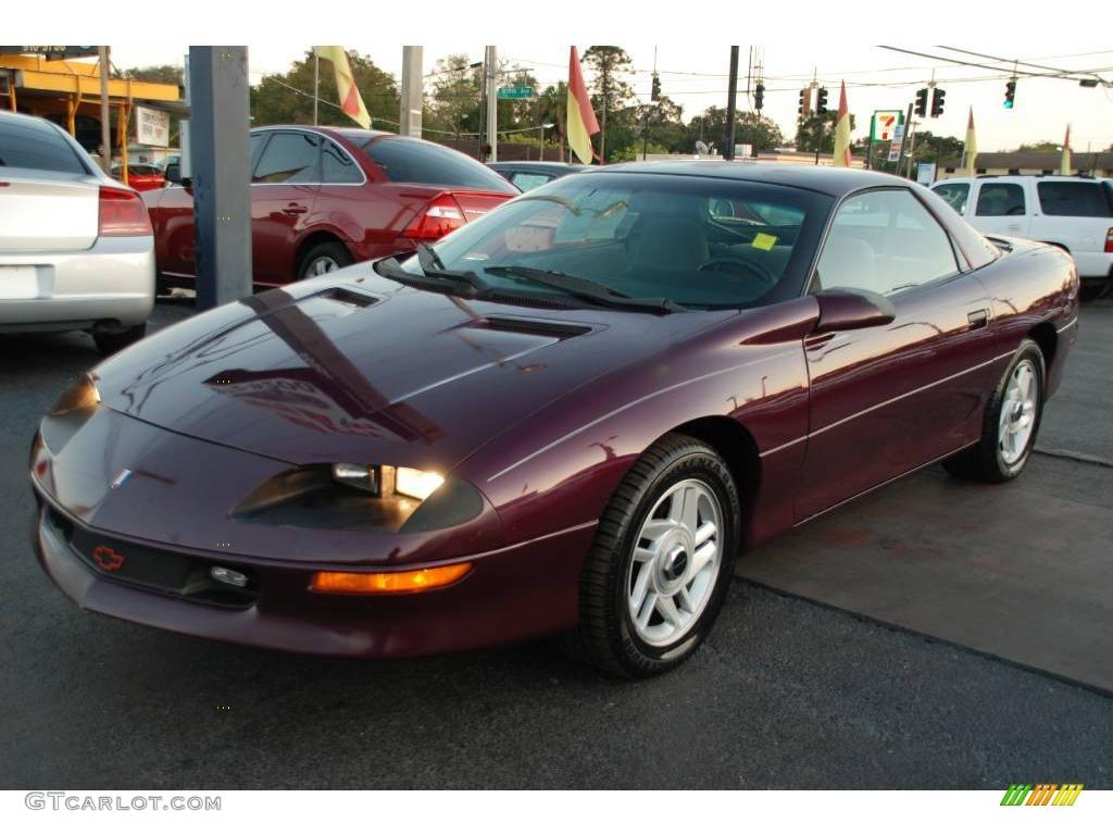 camaro coupe dark purple metallic color gray interior 1996 camaro