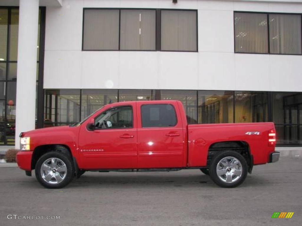 2009 Silverado 1500 LTZ Crew Cab 4x4 - Victory Red / Light Titanium photo #1