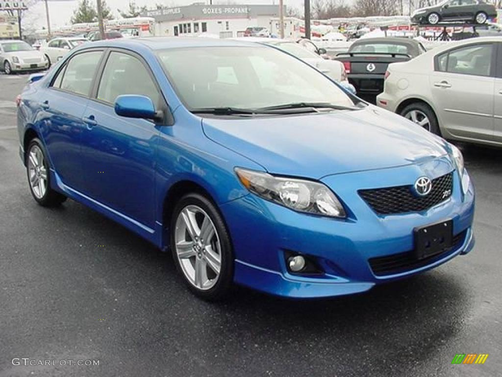 2009 blue streak metallic toyota corolla xrs 23856167. Black Bedroom Furniture Sets. Home Design Ideas