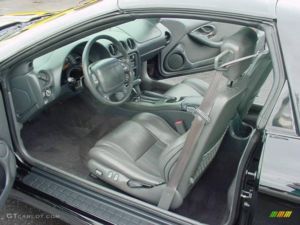 Dark Pewter Interior 1999 Pontiac Firebird Trans Am Ws 6 Coupe Photo 23872314