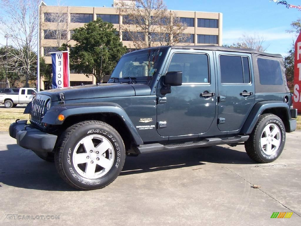 2007 Steel Blue Metallic Jeep Wrangler Unlimited Sahara 23855840