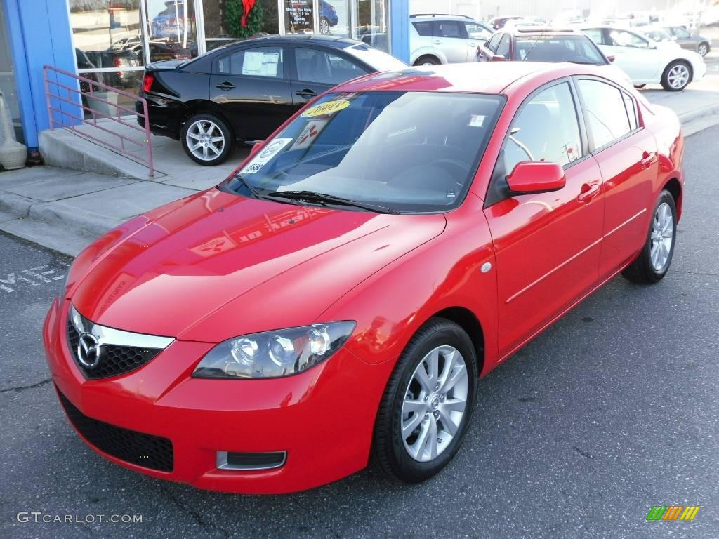 2008 true red mazda mazda3 i touring sedan 23860185 car color galleries. Black Bedroom Furniture Sets. Home Design Ideas