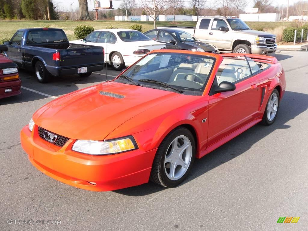 2000 Mustang GT Convertible - Performance Red / Medium Parchment photo #1