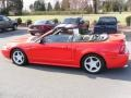 2000 Performance Red Ford Mustang GT Convertible  photo #3