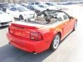 2000 Performance Red Ford Mustang GT Convertible  photo #4