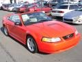 2000 Performance Red Ford Mustang GT Convertible  photo #6