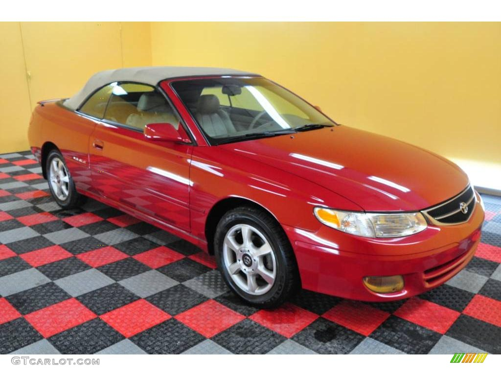 2000 red flame metallic toyota solara sle v6 convertible. Black Bedroom Furniture Sets. Home Design Ideas