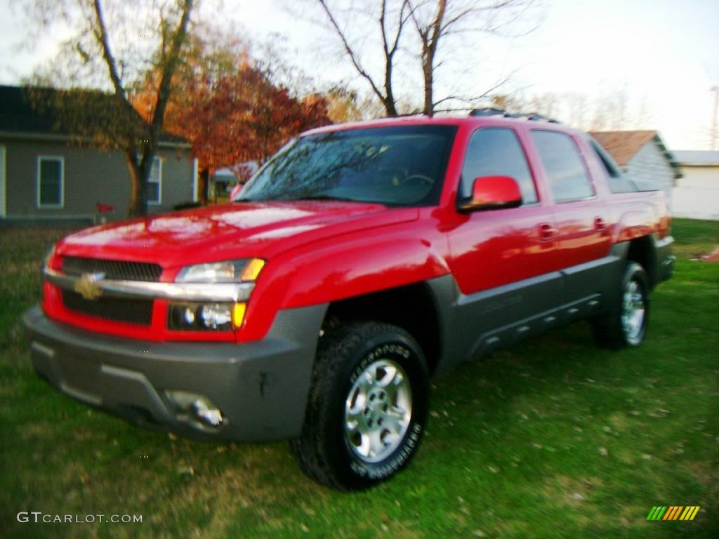 2002 Victory Red Chevrolet Avalanche Z71 4x4 23913864  GTCarLot