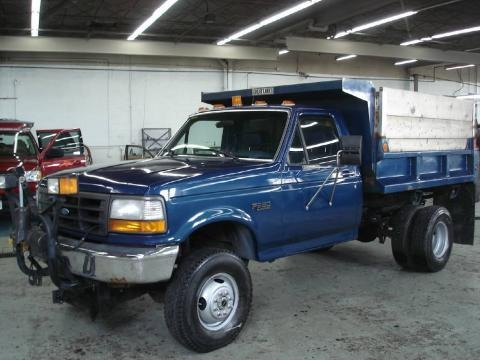 1995 ford f350 xl regular cab 4x4 chassis dump truck data. Black Bedroom Furniture Sets. Home Design Ideas