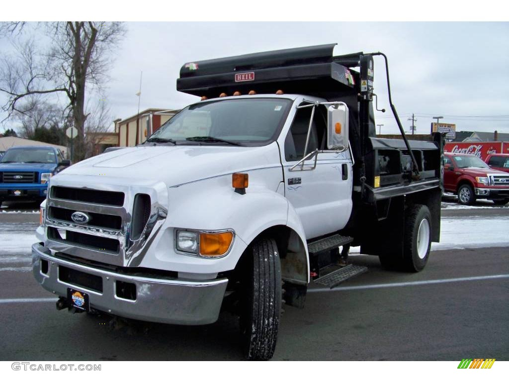 Ford F650 Xlt Super Duty >> 2006 Oxford White Ford F650 Super Duty XLT Regular Cab Dump Truck #23938673 | GTCarLot.com - Car ...