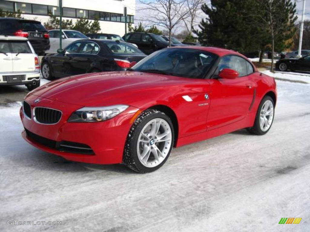 2010 Crimson Red Bmw Z4 Sdrive30i Roadster 23913282 Photo