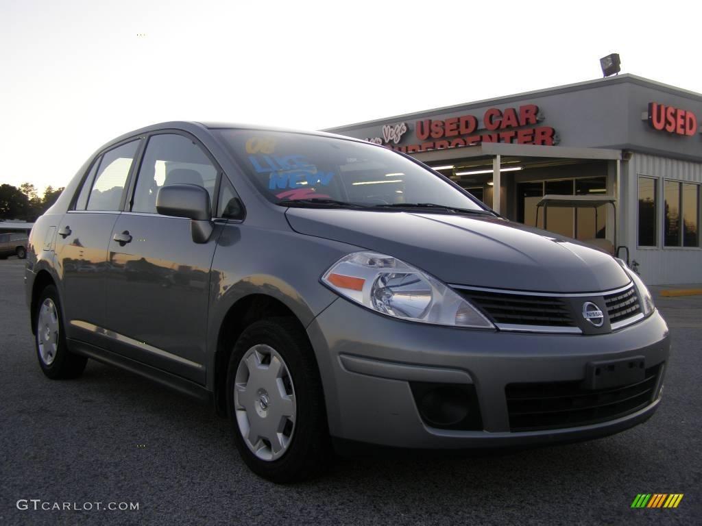 2008 magnetic gray nissan versa 1 8 s sedan 23913055 car color galleries. Black Bedroom Furniture Sets. Home Design Ideas