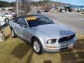 2007 Satin Silver Metallic Ford Mustang V6 Deluxe Convertible  photo #1
