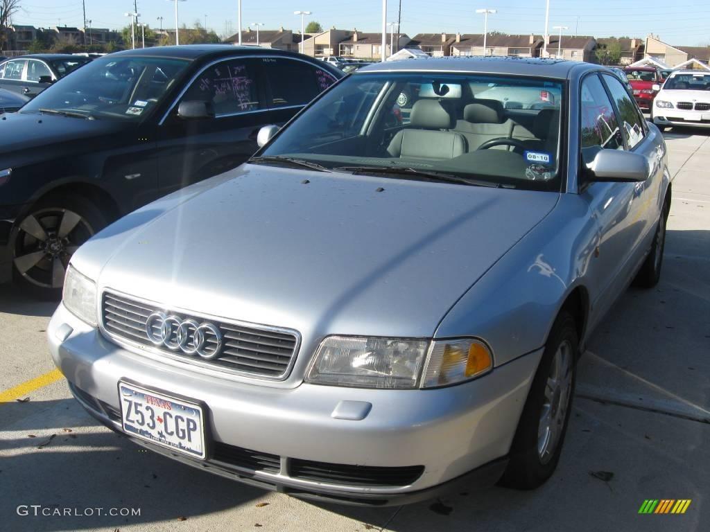 1998 aluminum silver metallic audi a4 1 8t quattro sedan 24140965 car color. Black Bedroom Furniture Sets. Home Design Ideas