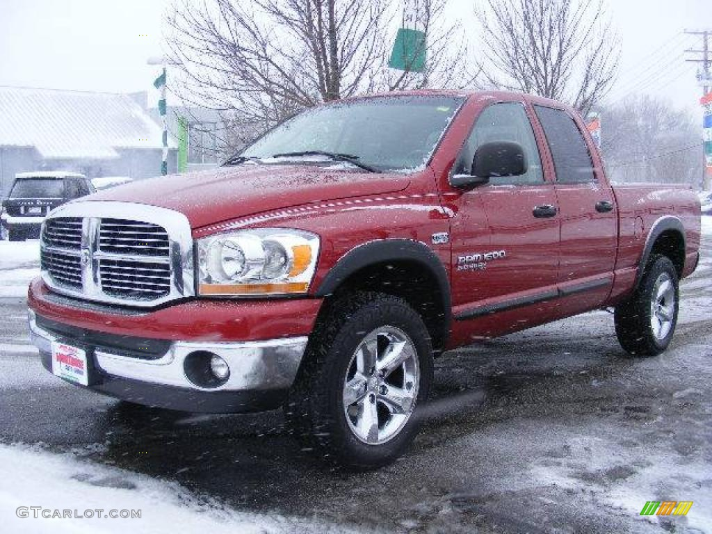 2006 inferno red crystal pearl dodge ram 1500 slt quad cab 4x4 24124161 car. Black Bedroom Furniture Sets. Home Design Ideas