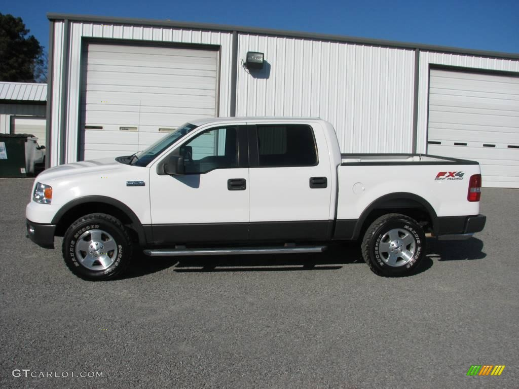 2005 f150 fx4 supercrew 4x4 oxford white black photo 1