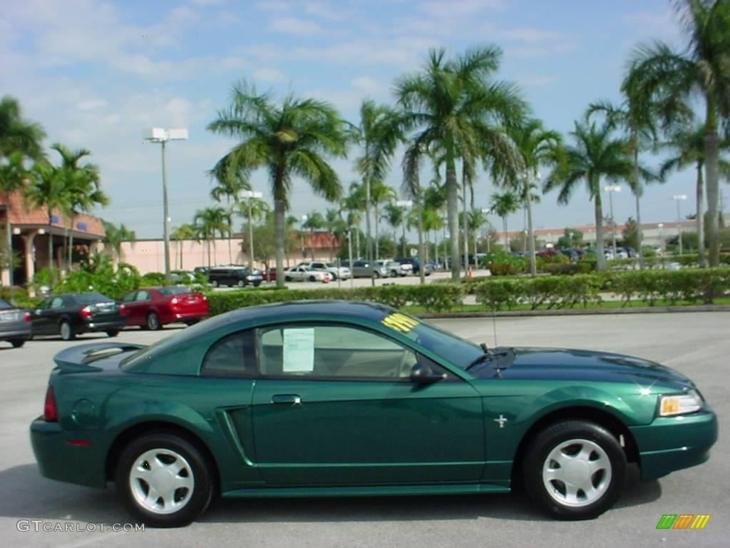 amazon green metallic 2000 ford mustang v6 coupe exterior. Black Bedroom Furniture Sets. Home Design Ideas