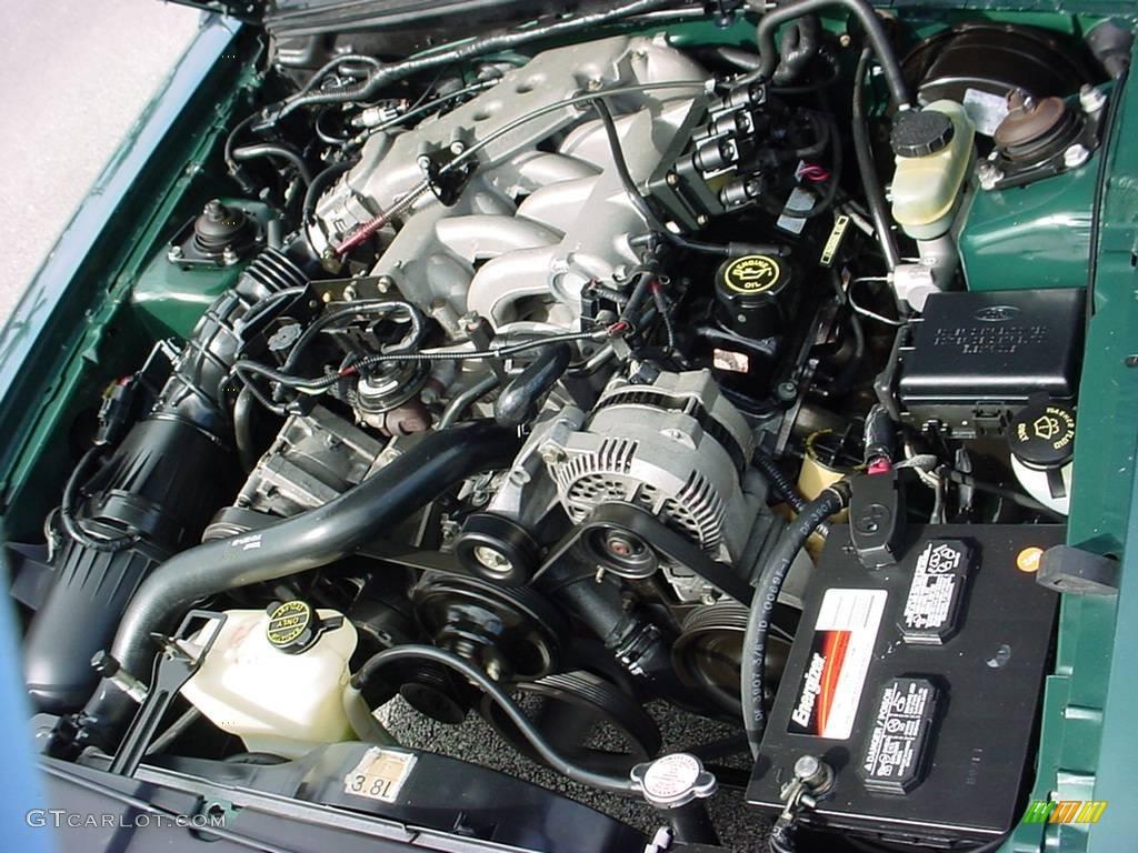 2000 Ford Mustang V6 Coupe 3.8 Liter OHV 12-Valve V6 ...