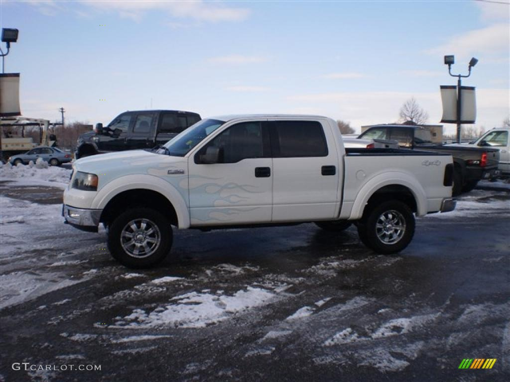 2004 Oxford White Ford F150 Xlt Supercrew 4x4 24208782 Gtcarlot F 150 Xl Supercab Dark Flint Photo 1
