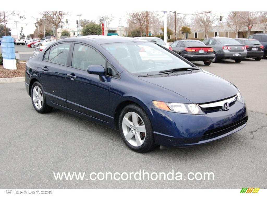 2007 royal blue pearl honda civic ex sedan 24184681 car color galleries. Black Bedroom Furniture Sets. Home Design Ideas