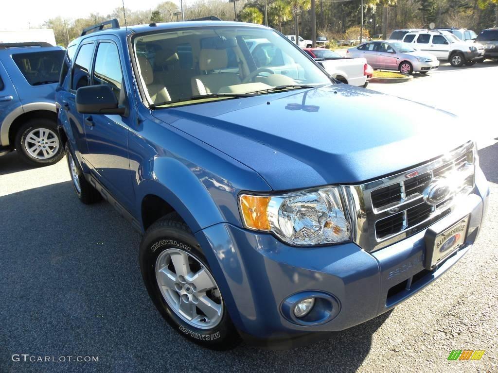 2009 Escape XLT V6 4WD - Sport Blue Metallic / Camel photo #1