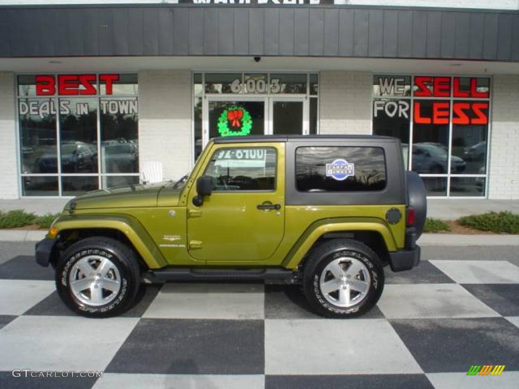 2008 Rescue Green Metallic Jeep Wrangler Sahara 4x4