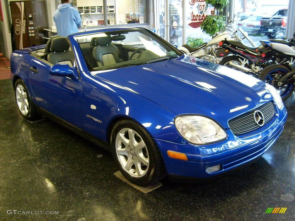 1998 bahama blue metallic mercedes benz slk 230 kompressor roadster 24264247. Black Bedroom Furniture Sets. Home Design Ideas