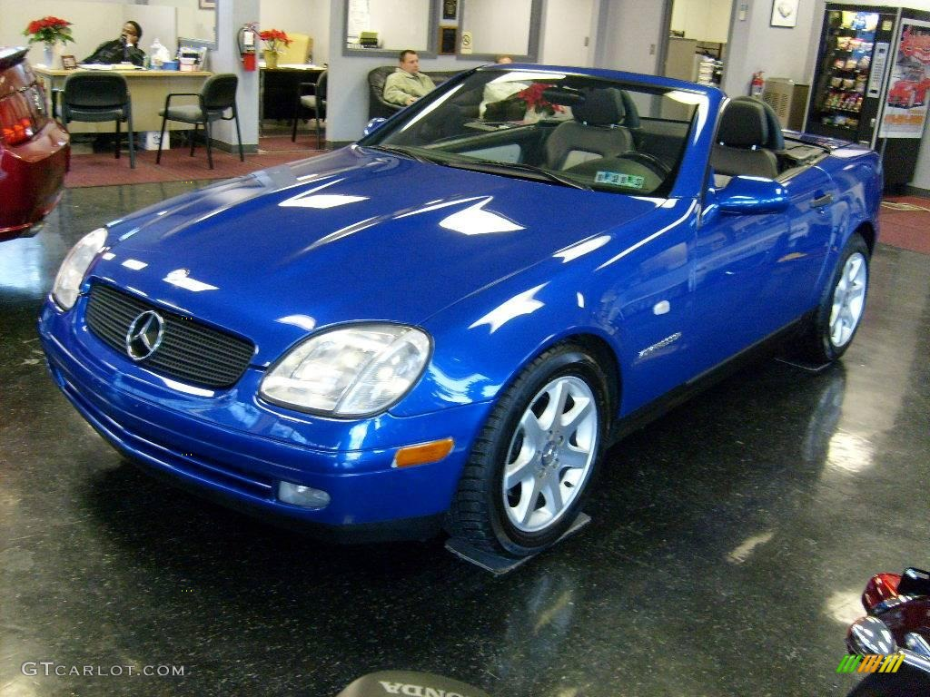 1998 bahama blue metallic mercedes benz slk 230 kompressor roadster 24264247 photo 3. Black Bedroom Furniture Sets. Home Design Ideas