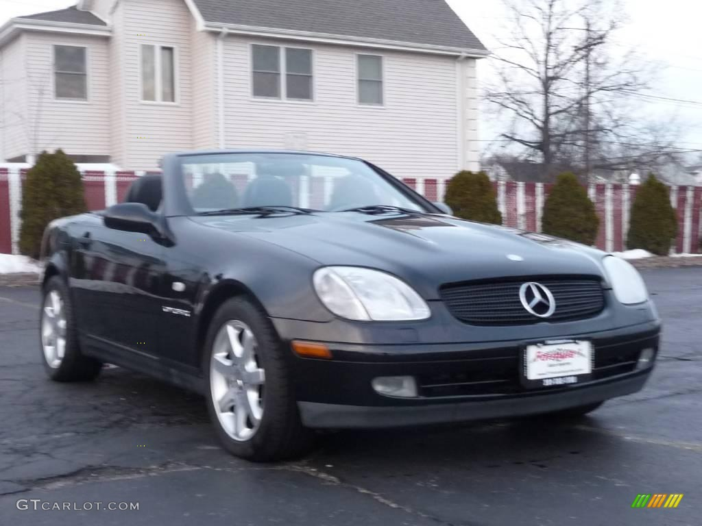 1998 black mercedes benz slk 230 kompressor roadster 24259725 photo 2 car. Black Bedroom Furniture Sets. Home Design Ideas