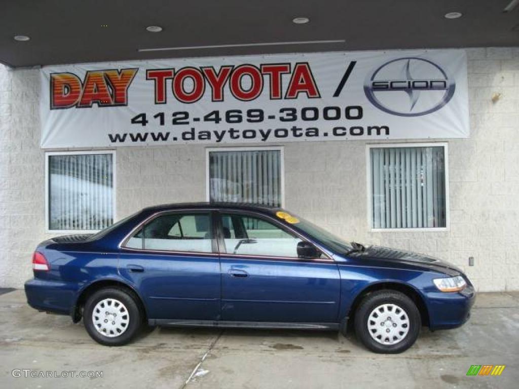2002 Accord VP Sedan - Eternal Blue Pearl / Charcoal photo #1