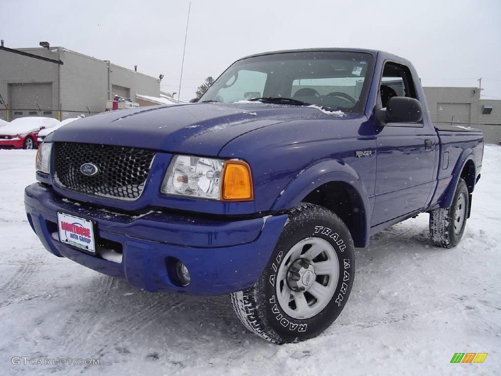 Sonic blue metallic ford ranger