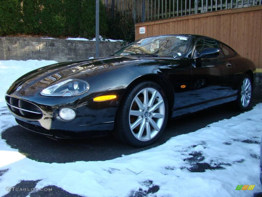 Delightful Ebony Black Jaguar XK