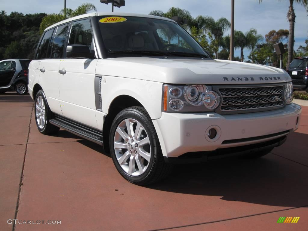 2007 Range Rover Supercharged - Chawton White / Ivory/Black photo #3