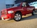 2002 Flame Red Dodge Ram 1500 Sport Quad Cab  photo #2