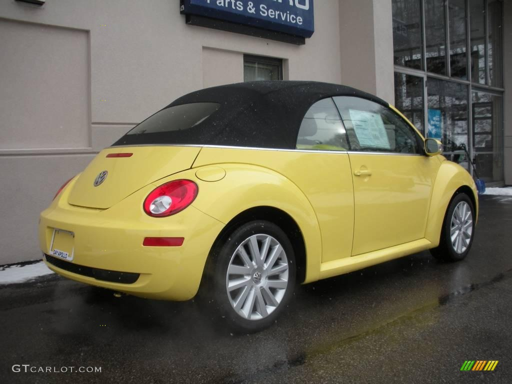 2008 sunflower yellow volkswagen new beetle se convertible 24363545 photo 3. Black Bedroom Furniture Sets. Home Design Ideas