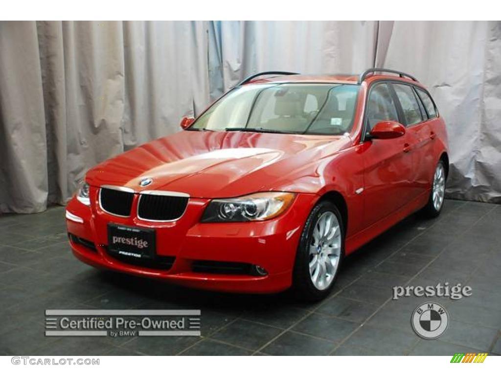 Crimson Red BMW Series Xi Wagon GTCarLotcom - 2007 bmw 328xi wagon